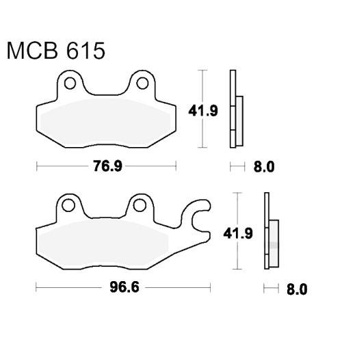 Bremsklotz Sinter vorne TRW MCB615SV (1 Satz)