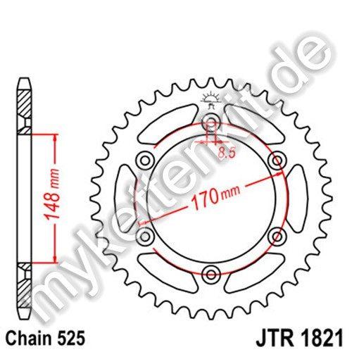 Kettenrad JTR1821 Stahl