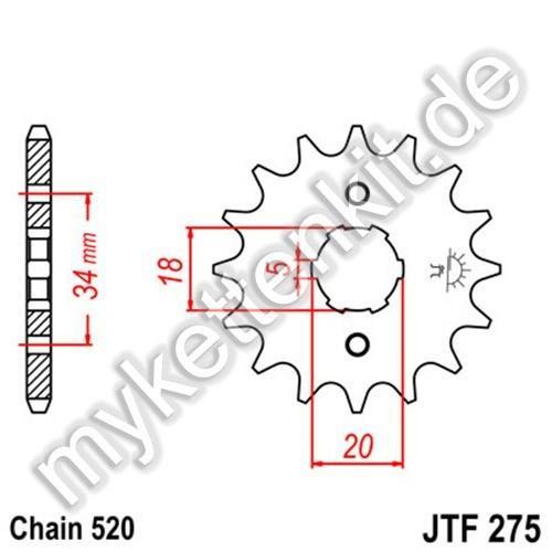 Ritzel JT Sprockets JTF275