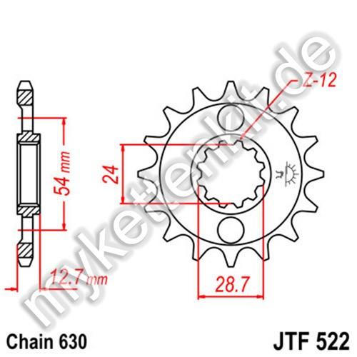 Ritzel JT Sprockets JTF522
