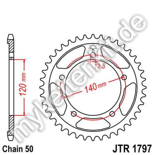 Kettenrad JTR1797 Stahl