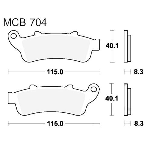 Bremsklotz Standard TRW MCB704 (1 Satz)