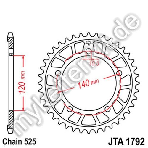 Kettenrad JTA1792 Alu