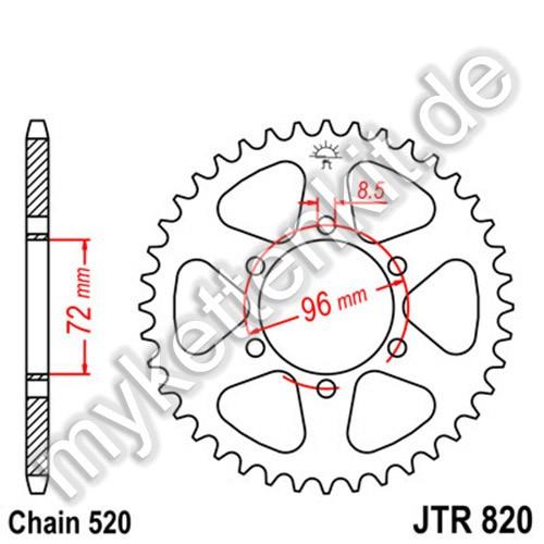 Kettenrad JTR820 Stahl
