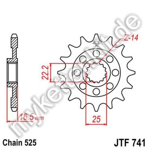 Ritzel JT Sprockets JTF741