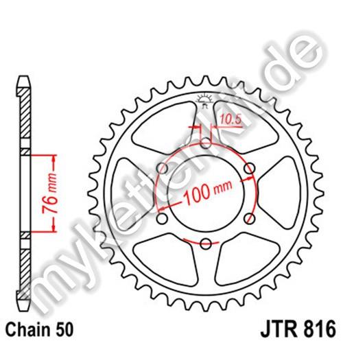 Kettenrad JTR816 Stahl