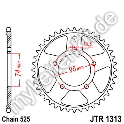 Kettenrad JTR1313 Stahl