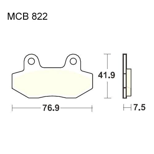 Bremsklotz Sinter vorne TRW MCB822SV (1 Satz)