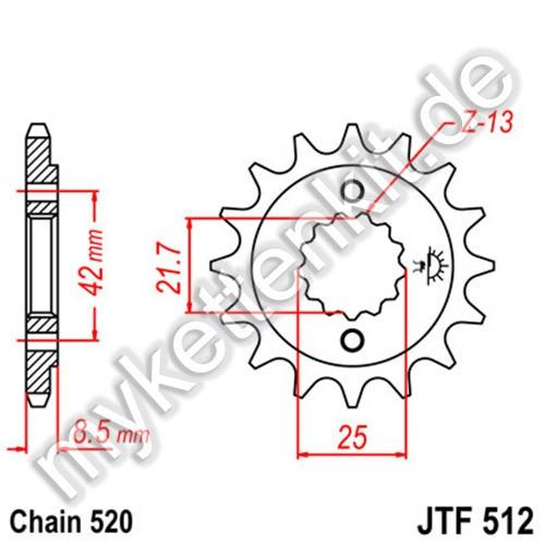 Ritzel JT Sprockets JTF512