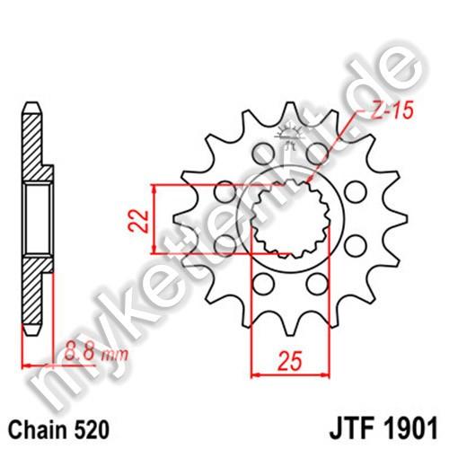 Ritzel JT Sprockets JTF1901