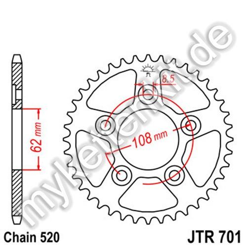Kettenrad JTR701 Stahl