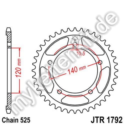 Kettenrad JTR1792 Stahl