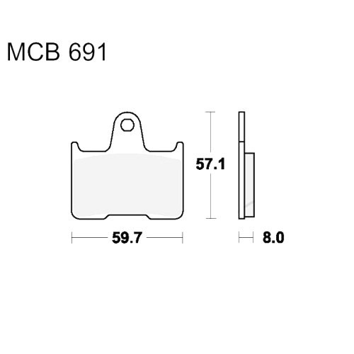 Bremsklotz Standard TRW MCB691 (1 Satz)