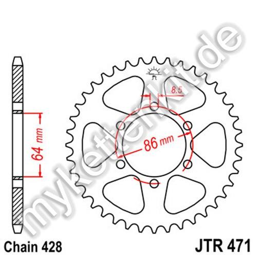 Kettenrad JTR471 Stahl