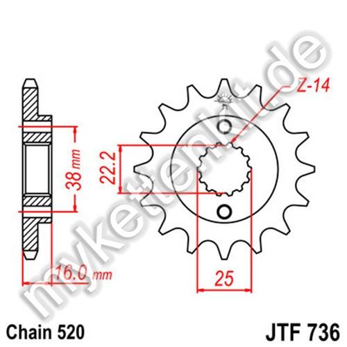 Ritzel JT Sprockets JTF736