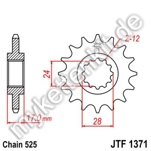 Ritzel JT Sprockets JTF1371
