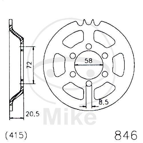 Kettenrad K20-0846 Stahl