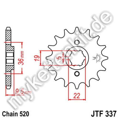 Ritzel JT Sprockets JTF337