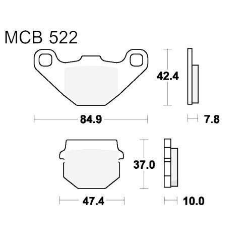 Bremsklotz Standard TRW MCB522 (1 Satz)