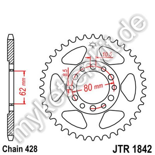 Kettenrad JTR1842 Stahl