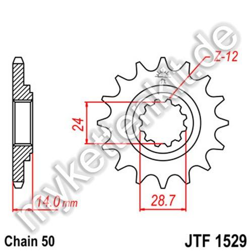 Ritzel JT Sprockets JTF1529