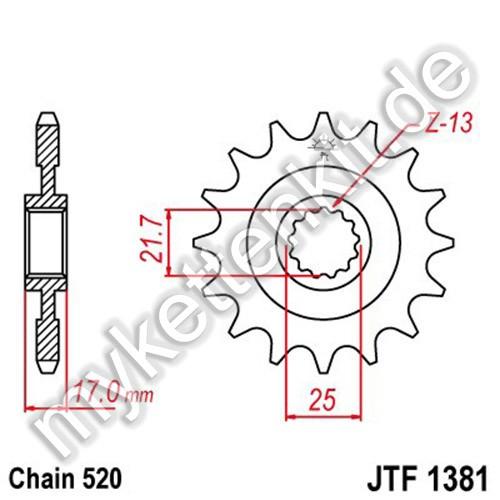 Ritzel JT Sprockets JTF1381