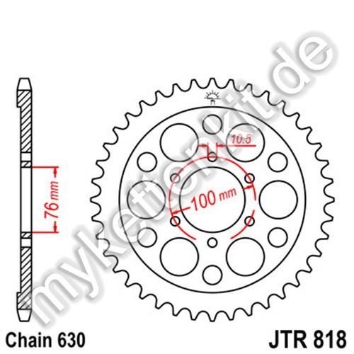 Kettenrad JTR818 Stahl