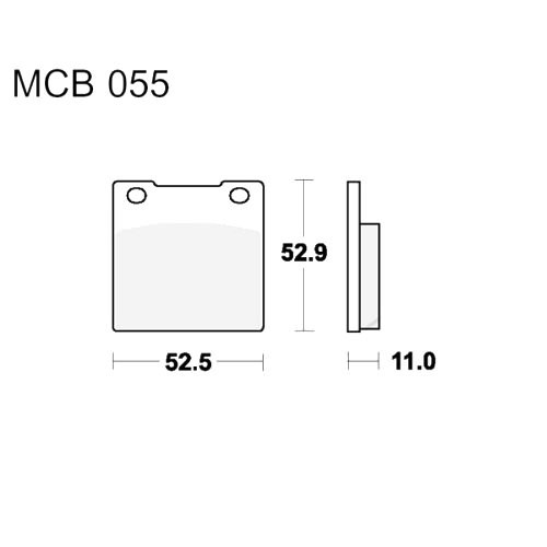Bremsklotz Standard TRW MCB55 (1 Satz)