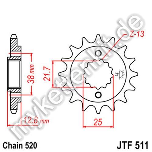 Ritzel JT Sprockets JTF511