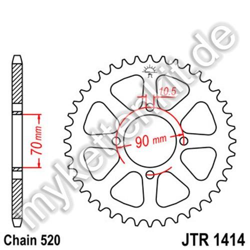 Kettenrad JTR1414 Stahl