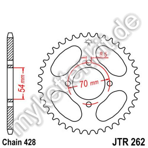 Kettenrad JTR262 Stahl