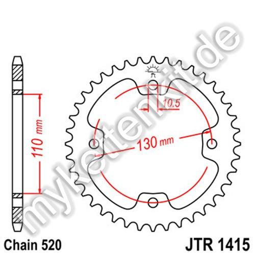 Kettenrad JTR1415 Stahl