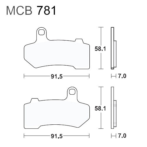 Bremsklotz Sinter vorne TRW MCB781SV (1 Satz)