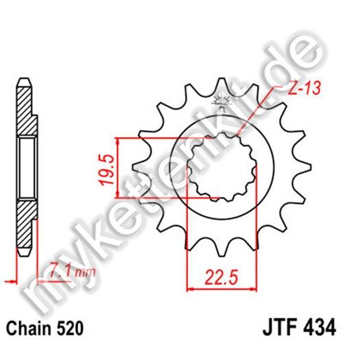 Ritzel JT Sprockets JTF434