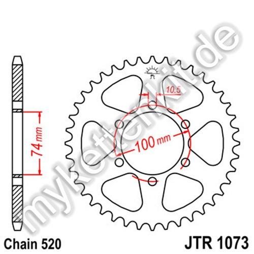 Kettenrad JTR1073 Stahl