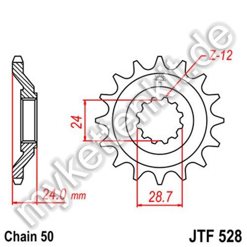Ritzel JT Sprockets JTF528