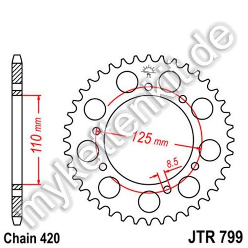 Kettenrad JTR799 Stahl