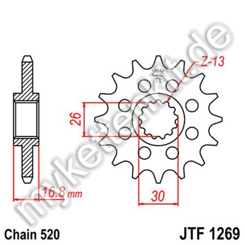 Ritzel JT Sprockets JTF1269