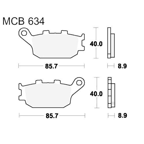 Bremsklotz Sinter hinten TRW MCB634SH (1 Satz)