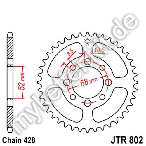 Kettenrad JTR802 Stahl