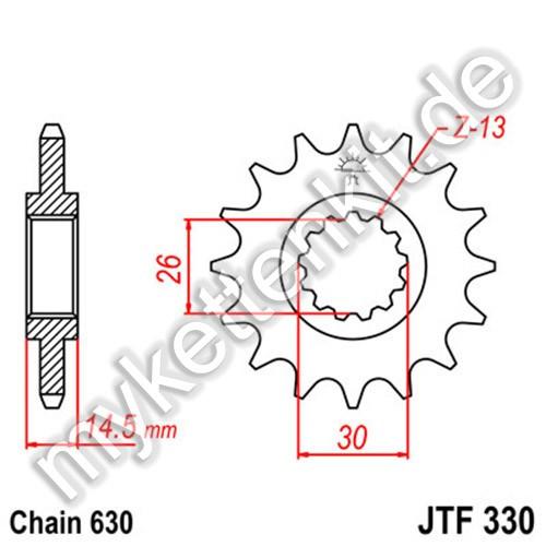 Ritzel JT Sprockets JTF330