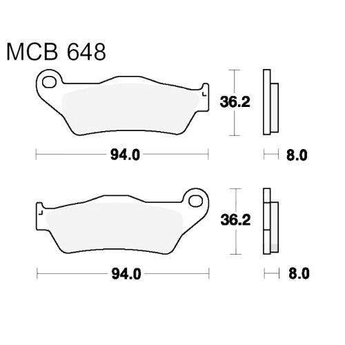 Bremsklotz Sinter vorne TRW MCB648SV (1 Satz)