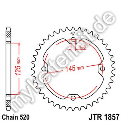 Kettenrad JTR1857 Stahl