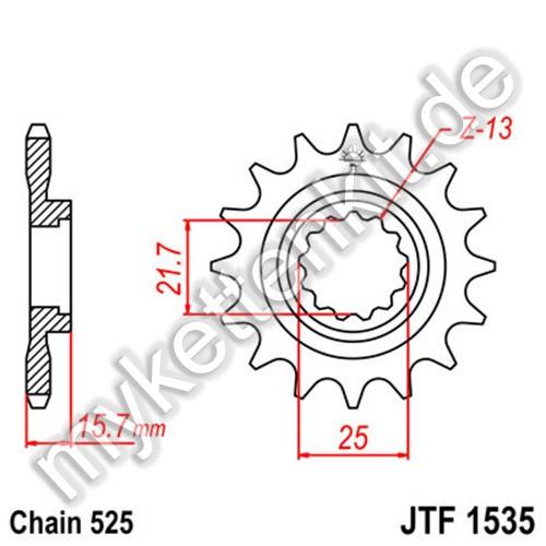 Ritzel JT Sprockets JTF1535