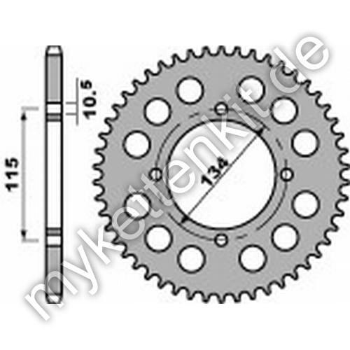 Kettenrad PBR711 Stahl
