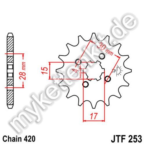 Ritzel JT Sprockets JTF253