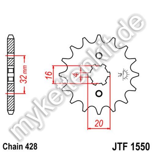 Ritzel JT Sprockets JTF1550