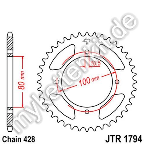Kettenrad JTR1794 Stahl