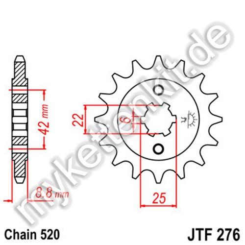 Ritzel JT Sprockets JTF276