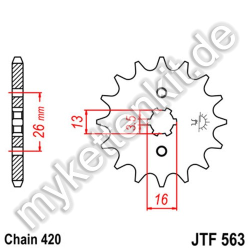 Ritzel JT Sprockets JTF563
